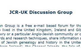 JCR-UK Discussion Group